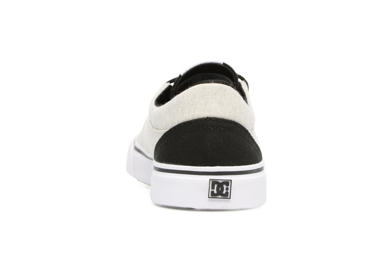 Deportivas DC Shoes TRASE TX Kids Negro vista lateral derecha