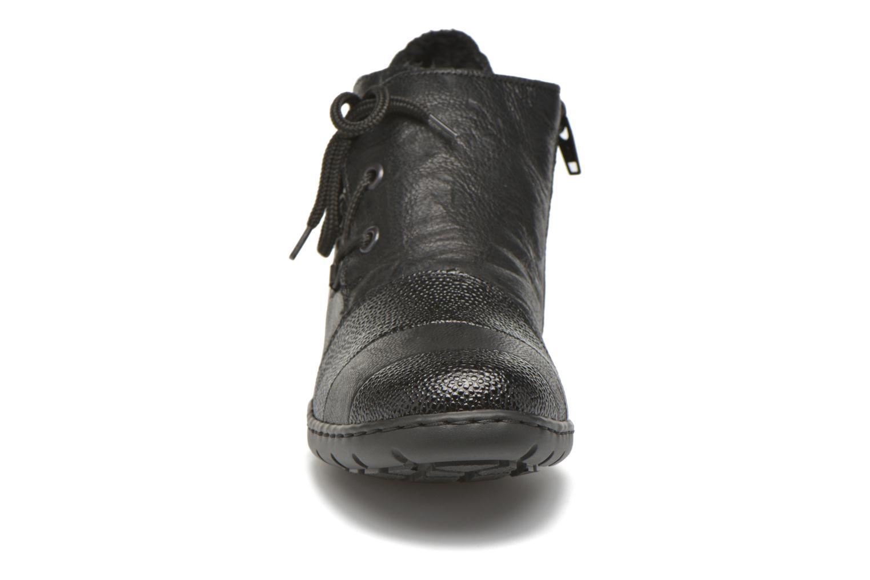 Chaussures à lacets Rieker Fleur L4334 Noir vue portées chaussures
