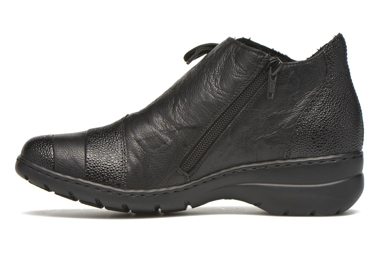 Chaussures à lacets Rieker Fleur L4334 Noir vue face