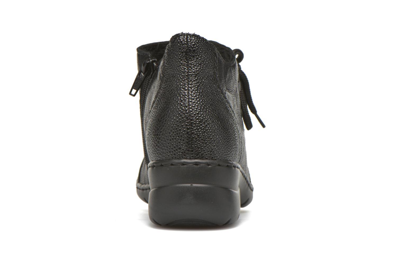 Chaussures à lacets Rieker Fleur L4334 Noir vue droite