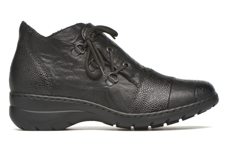 Chaussures à lacets Rieker Fleur L4334 Noir vue derrière