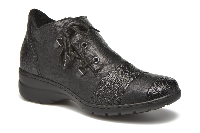 Chaussures à lacets Rieker Fleur L4334 Noir vue détail/paire