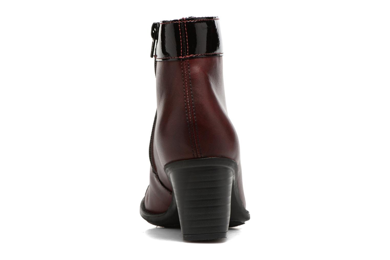 Bottines et boots Rieker Sally Z7664 Bordeaux vue droite