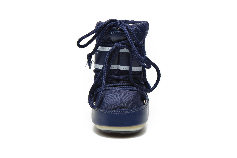 Bottes Moon Boot Moon Boot Mini Nylon Bleu vue portées chaussures