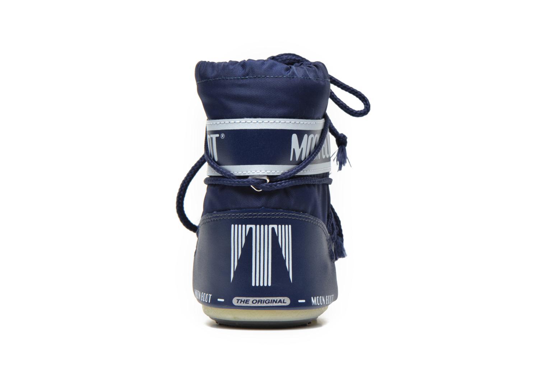 Bottes Moon Boot Moon Boot Mini Nylon Bleu vue droite