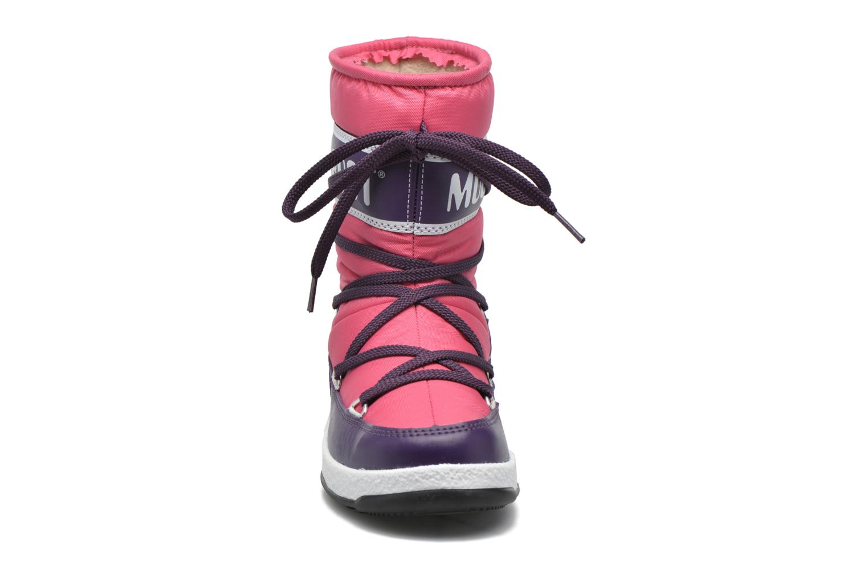 Bottes Moon Boot Moon Boot Sport Jr Rose vue portées chaussures
