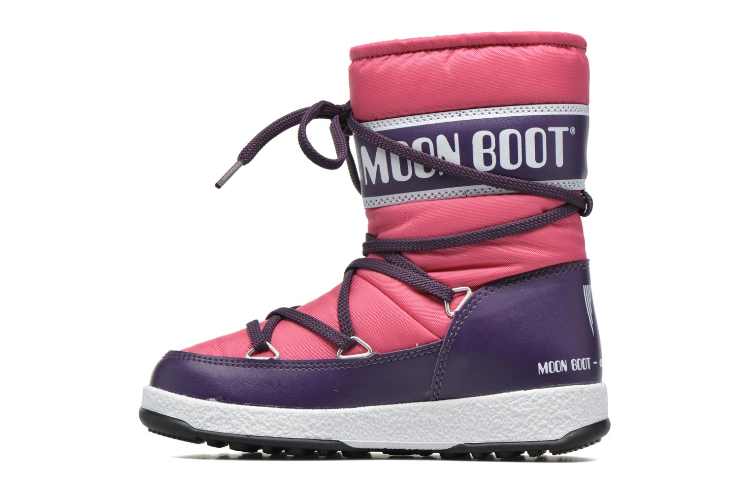 Bottes Moon Boot Moon Boot WE Sport Jr Rose vue face