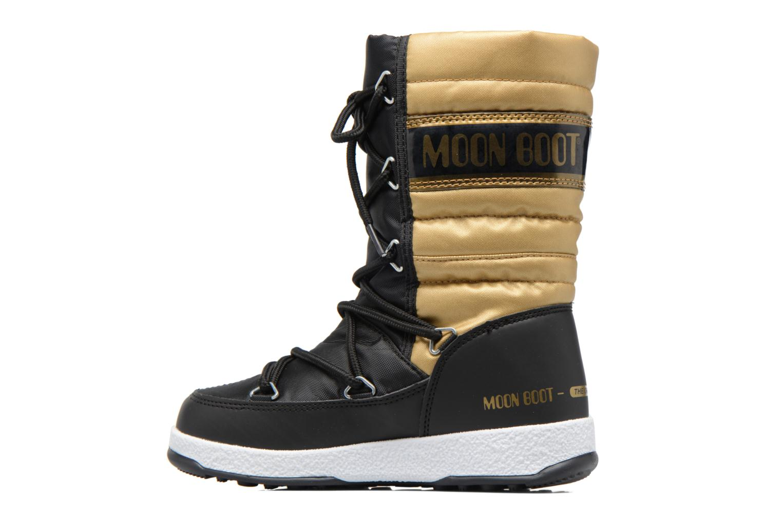 Boots & wellies Moon Boot Moon Boot Quilted Jr Wp Bronze and Gold front view