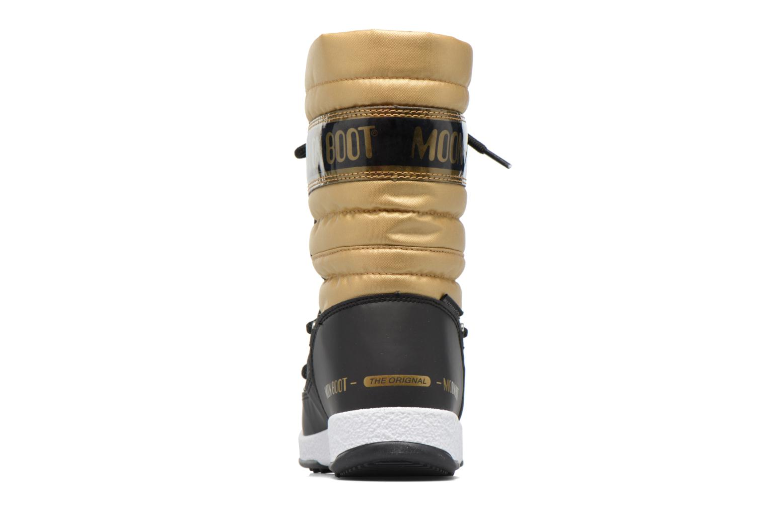 Boots & wellies Moon Boot Moon Boot Quilted Jr Wp Bronze and Gold view from the right