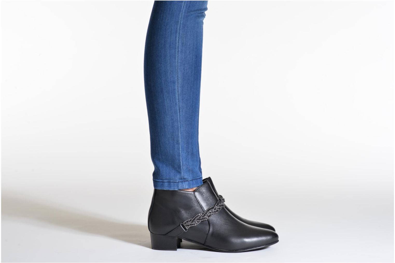Bottines et boots Georgia Rose Lullueboot Noir vue bas / vue portée sac