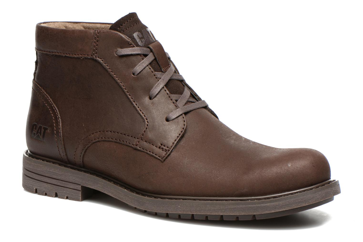 Ankle boots Caterpillar Brock Brown detailed view/ Pair view