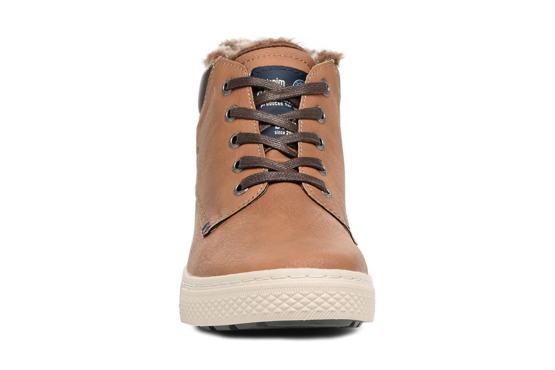 Baskets Tom Tailor Olive Marron vue portées chaussures