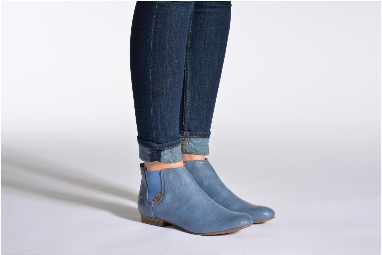 Bottines et boots Mustang shoes Juka Blanc vue bas / vue portée sac