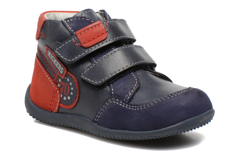 Ankelstøvler Kickers Bi Too Blå detaljeret billede af skoene