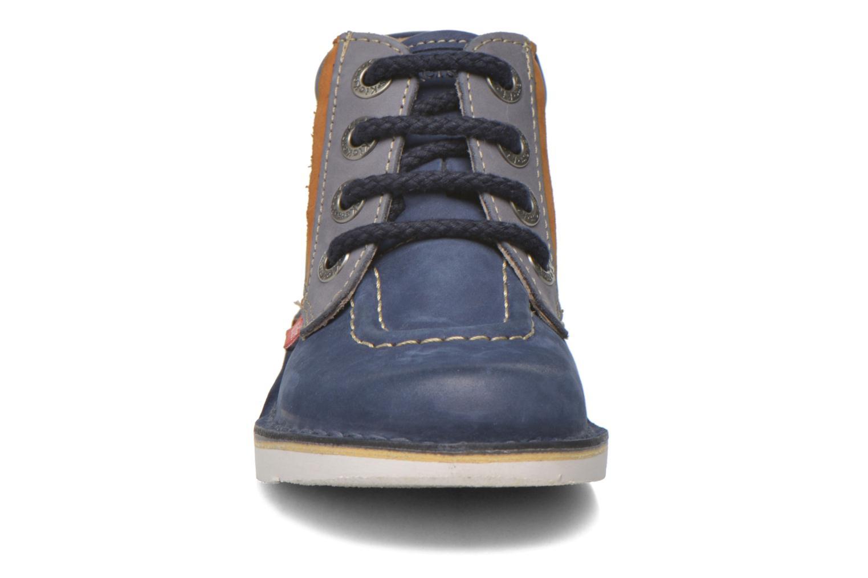 Bottines et boots Kickers Walla Bleu vue portées chaussures