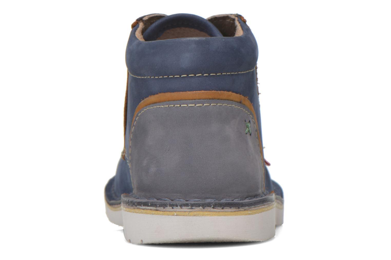 Bottines et boots Kickers Walla Bleu vue droite