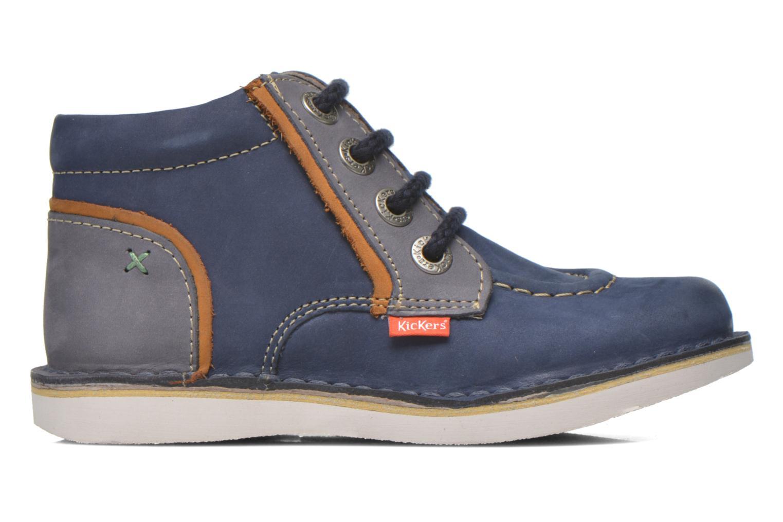 Bottines et boots Kickers Walla Bleu vue derrière