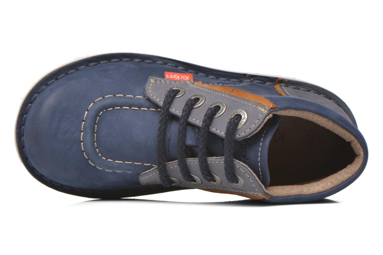 Bottines et boots Kickers Walla Bleu vue gauche