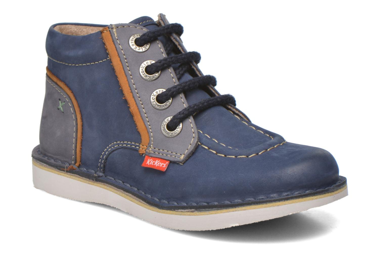 Bottines et boots Kickers Walla Bleu vue détail/paire