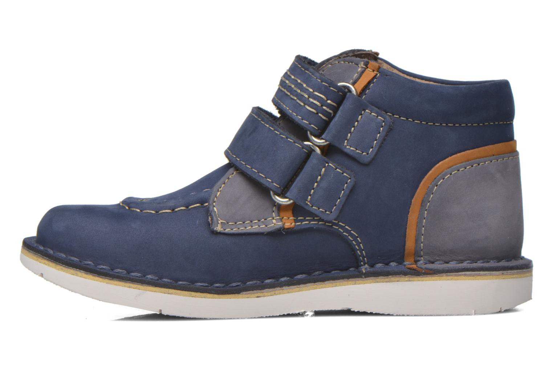 Chaussures à scratch Kickers Wapa Bleu vue face