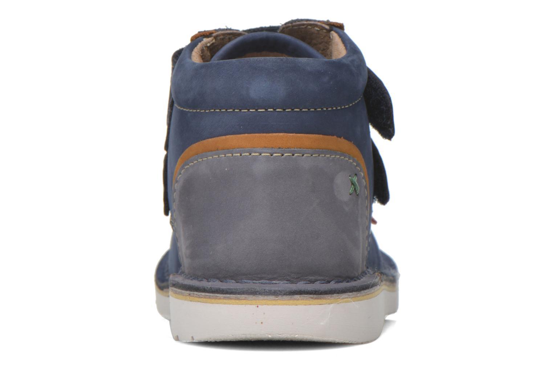 Chaussures à scratch Kickers Wapa Bleu vue droite