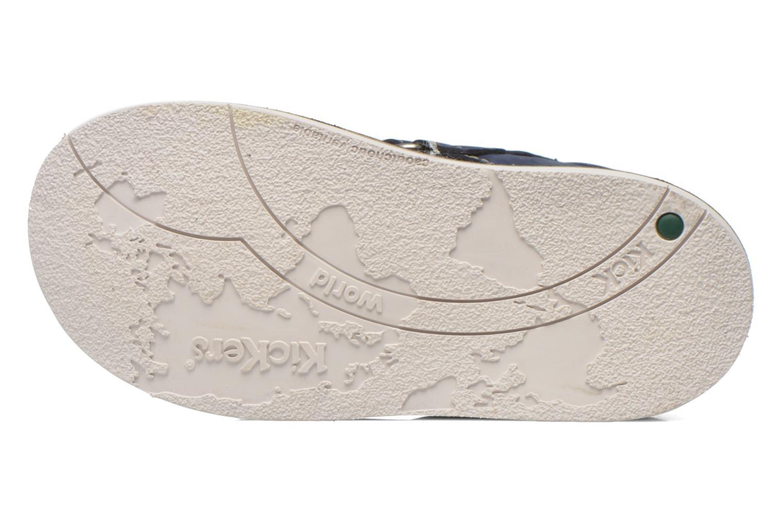 Chaussures à scratch Kickers Wapa Bleu vue haut