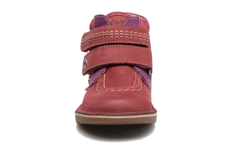 Chaussures à scratch Kickers Wapa Bordeaux vue portées chaussures