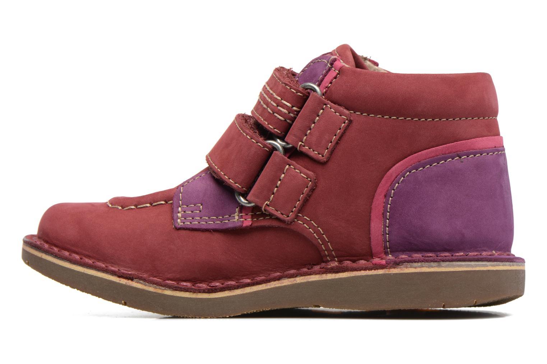 Chaussures à scratch Kickers Wapa Bordeaux vue face