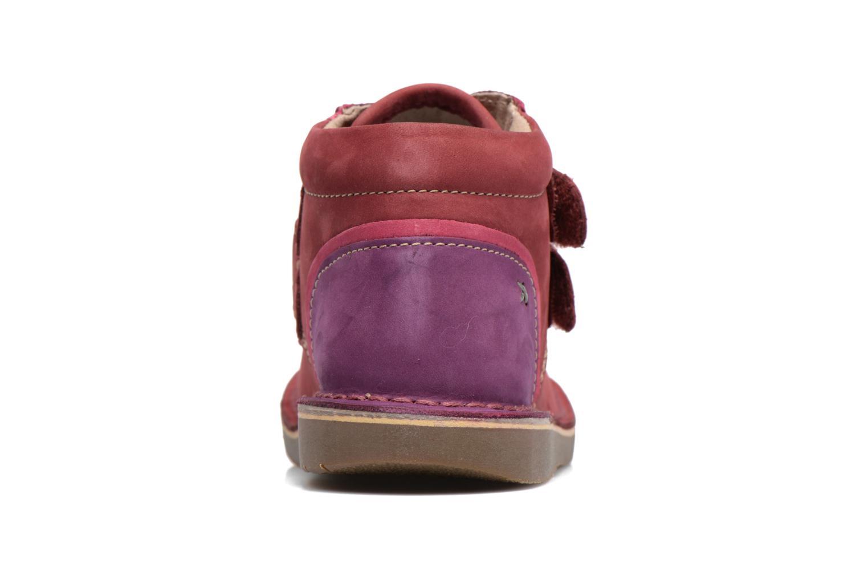 Chaussures à scratch Kickers Wapa Bordeaux vue droite