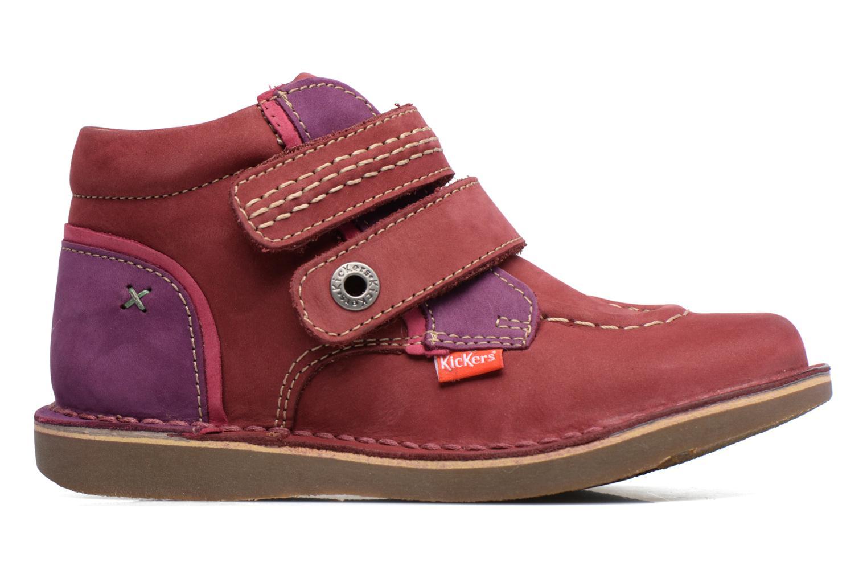 Chaussures à scratch Kickers Wapa Bordeaux vue derrière