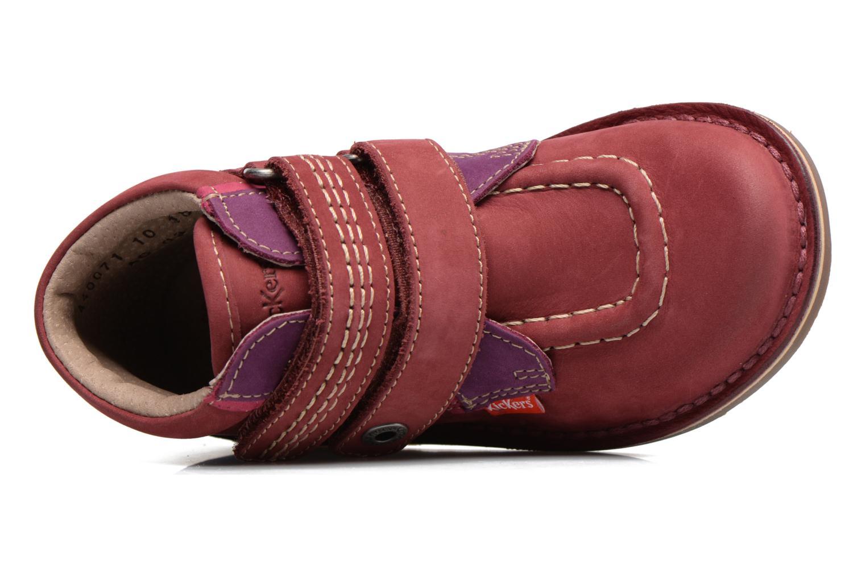Chaussures à scratch Kickers Wapa Bordeaux vue gauche