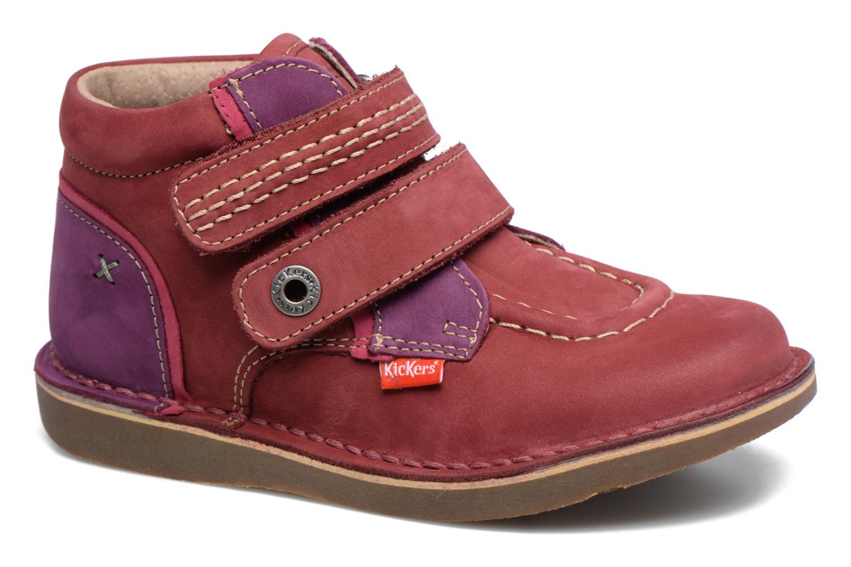 Chaussures à scratch Kickers Wapa Bordeaux vue détail/paire