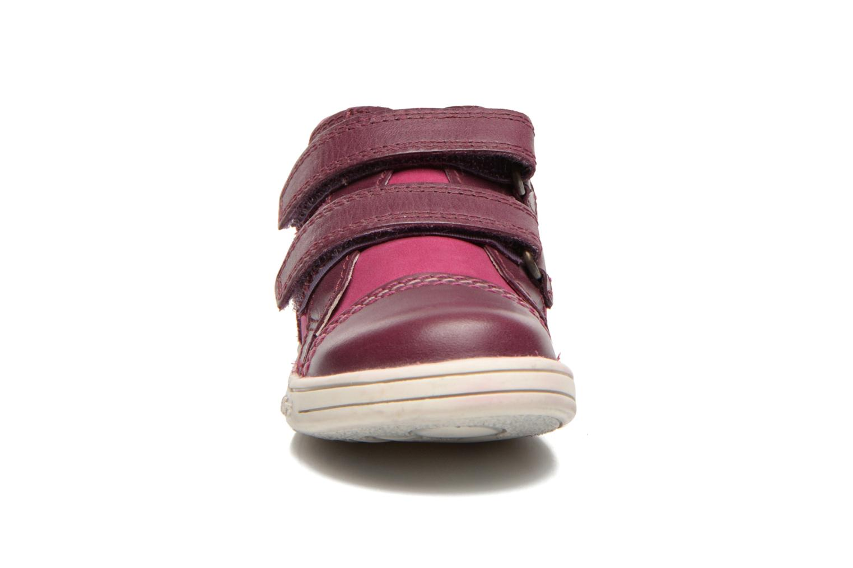 Chaussures à scratch Kickers Trala Violet vue portées chaussures