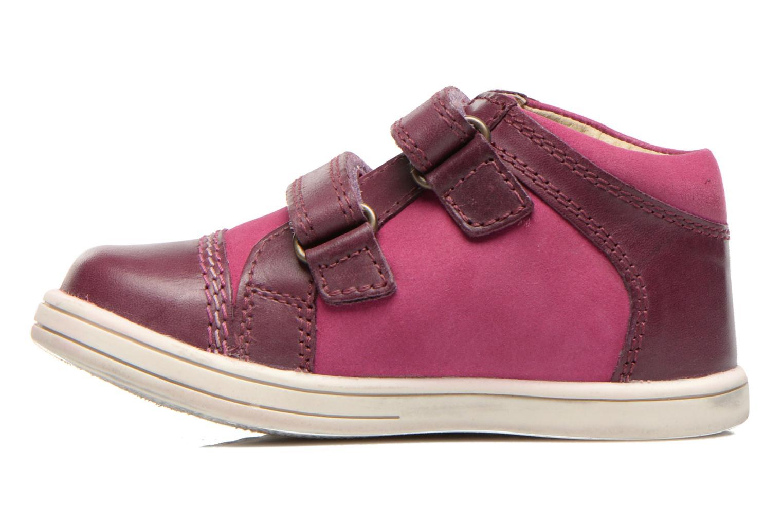 Chaussures à scratch Kickers Trala Violet vue face