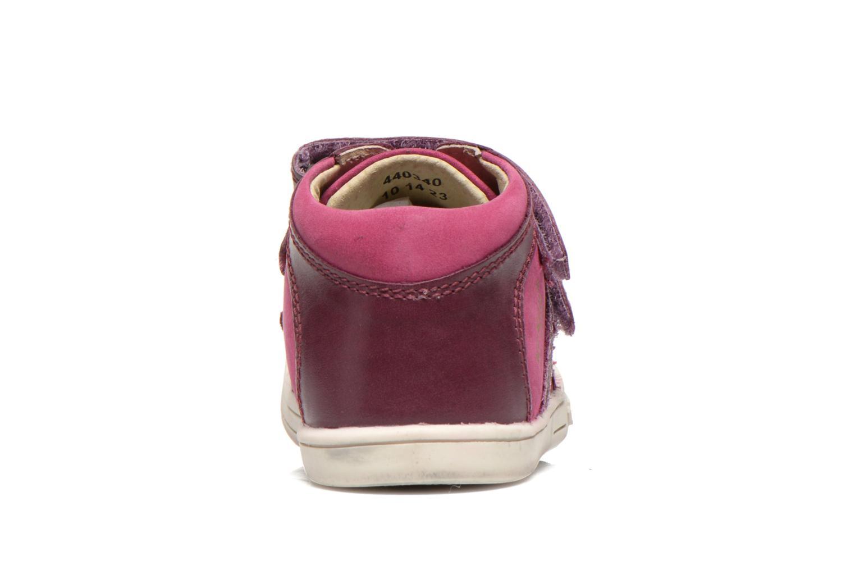 Chaussures à scratch Kickers Trala Violet vue droite