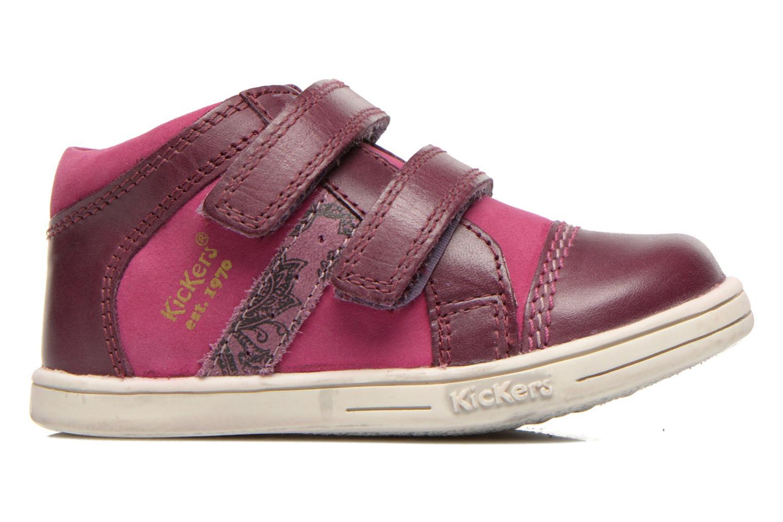 Chaussures à scratch Kickers Trala Violet vue derrière