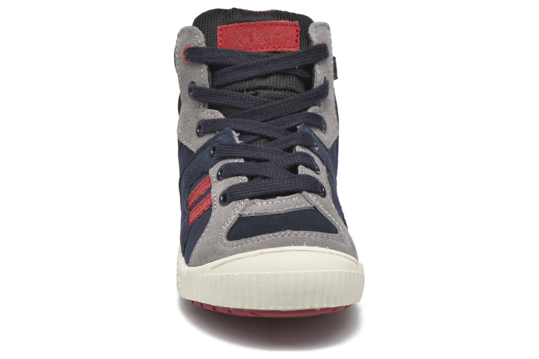 Baskets Kickers Ziguers Bleu vue portées chaussures