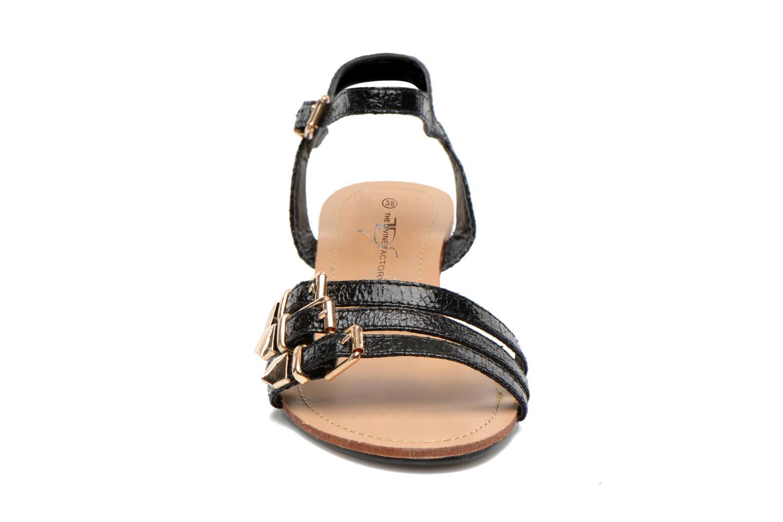 Sandales et nu-pieds Divine Factory Eliza Noir vue portées chaussures