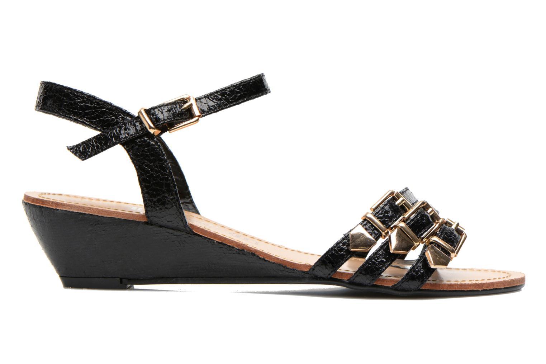 Sandales et nu-pieds Divine Factory Eliza Noir vue derrière