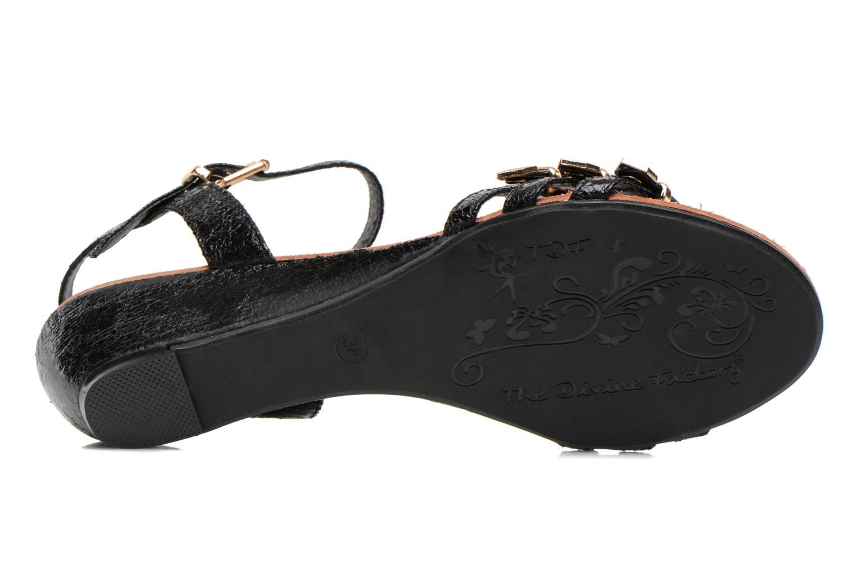 Sandales et nu-pieds Divine Factory Eliza Noir vue haut