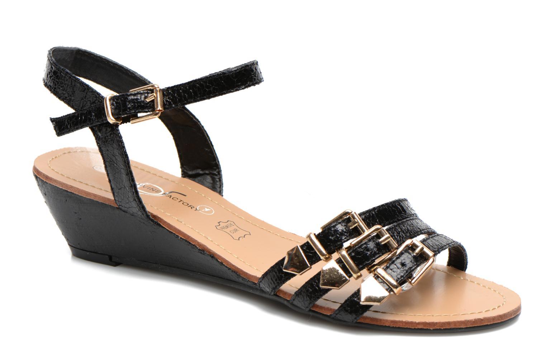 Sandales et nu-pieds Divine Factory Eliza Noir vue détail/paire