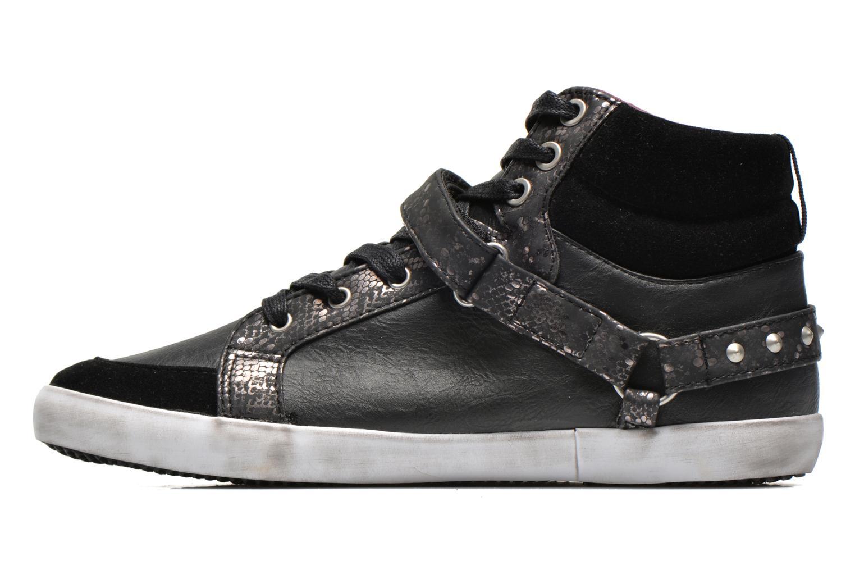 Sneaker Kaporal Snoozy schwarz ansicht von vorne