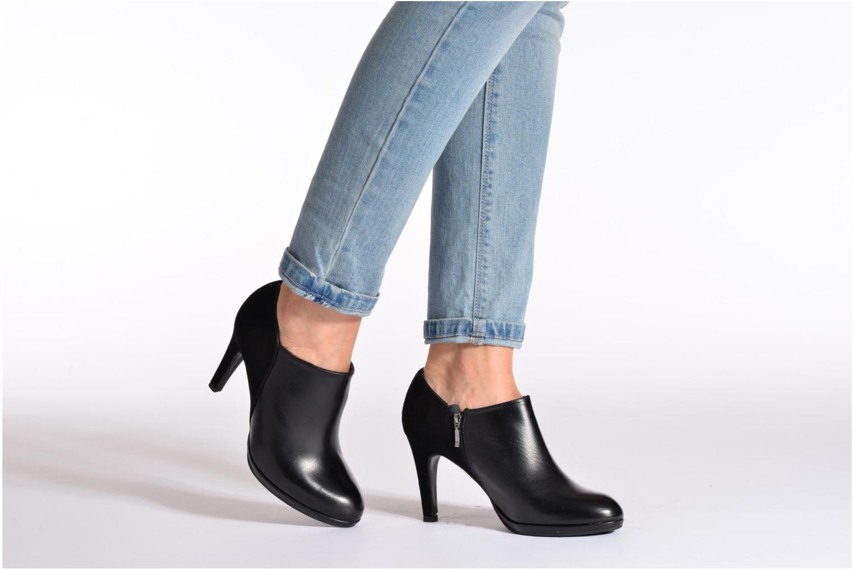 Bottines et boots COSMOPARIS Malay/bi Noir vue bas / vue portée sac