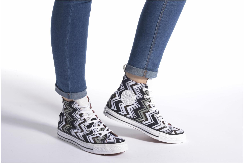 Sneaker Converse Chuck Taylor All Star Missoni Hi W grün ansicht von unten / tasche getragen