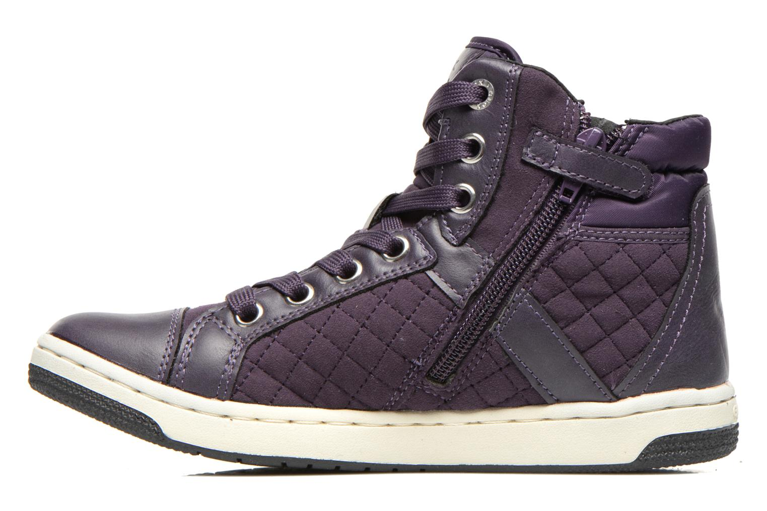 Trainers Geox J Creamy G Purple front view