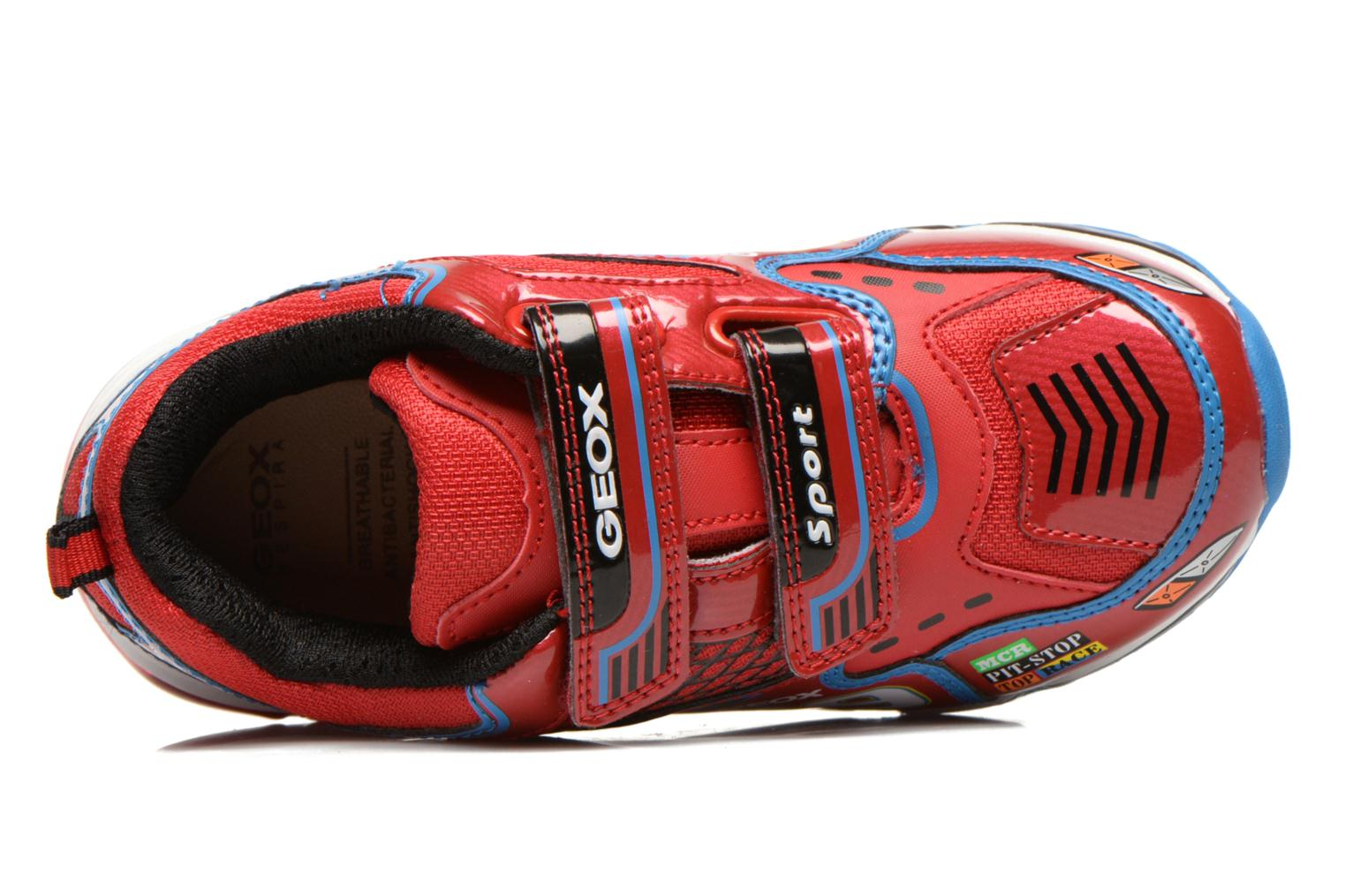 Sneaker Geox J Android B. A rot ansicht von links