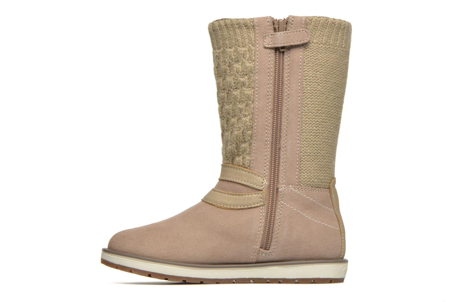 Bottes Geox J Noha B Beige vue face