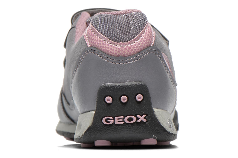 Sneaker Geox J N.Jocker G grau ansicht von rechts