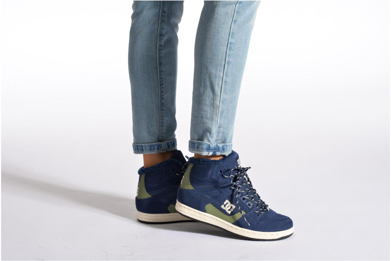 Deportivas DC Shoes Rebound High WNT Azul vista de abajo
