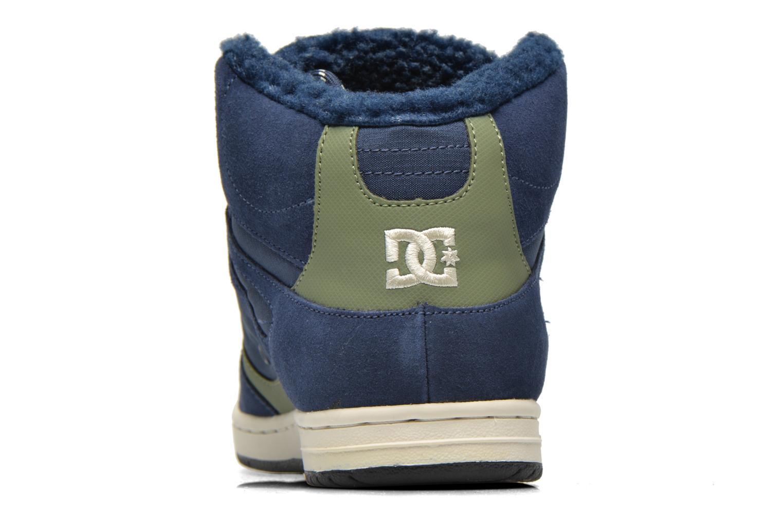 Deportivas DC Shoes Rebound High WNT Azul vista lateral derecha